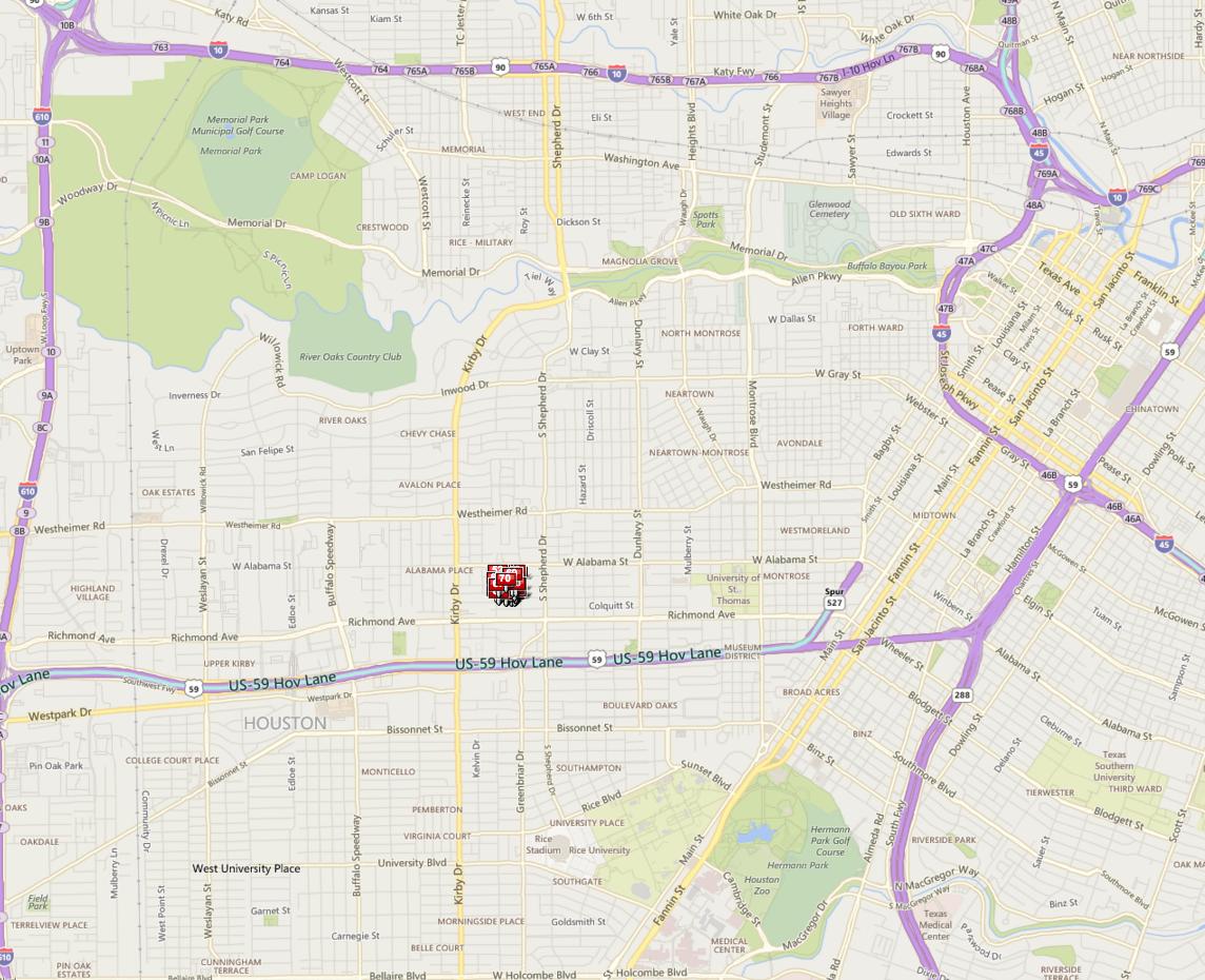 Alabama Place Houston map