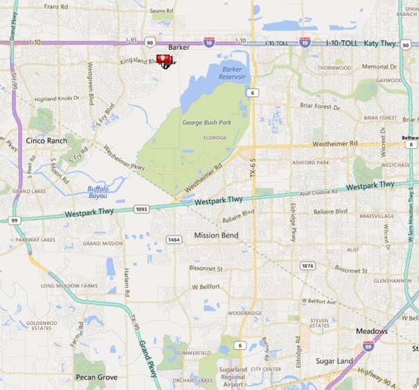 Arcadia Houston map