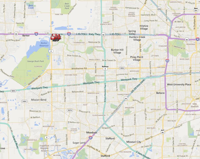 Barkers Landing Houston map