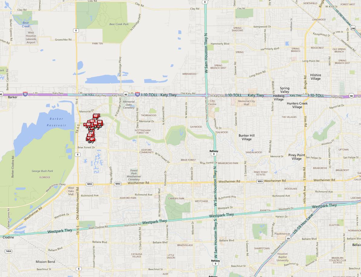Briarhills West Houston map
