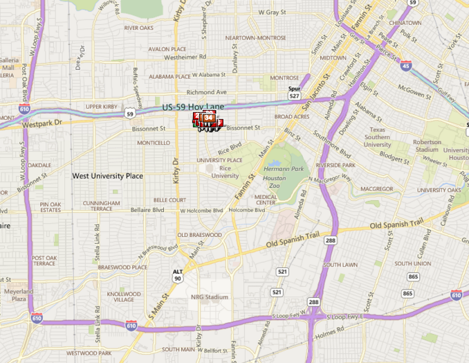 Chevy Chase Houston map