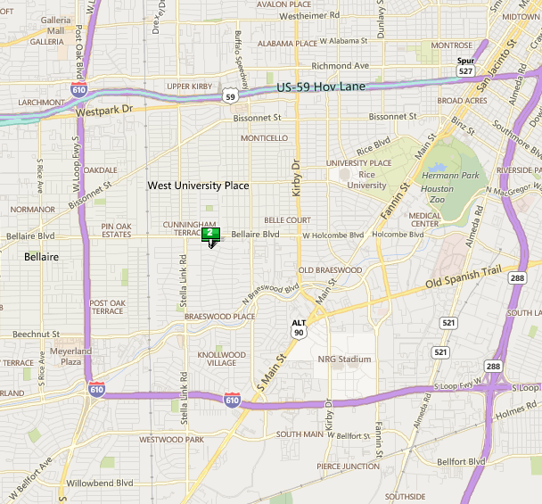 Crain Square Houston map