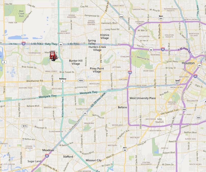 Memorial TX neighborhood map