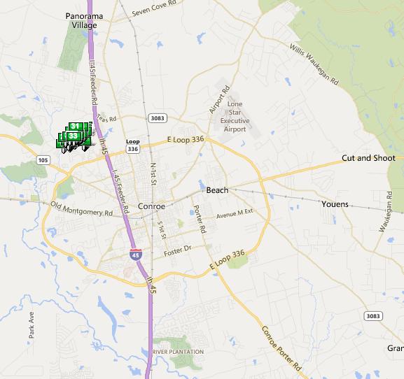 Graystone Hills TX map