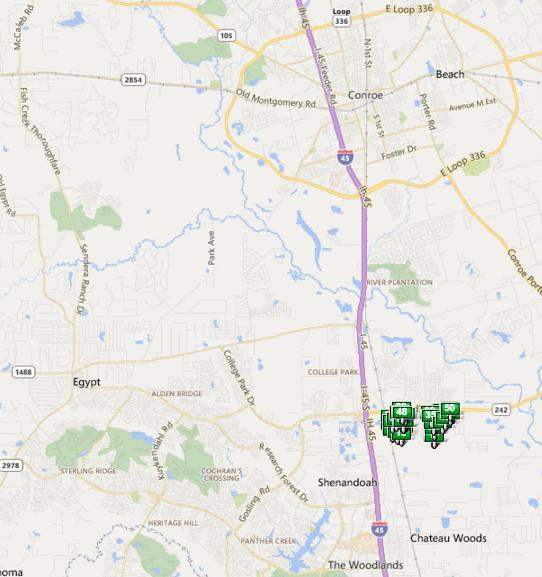Harpers Preserve TX map