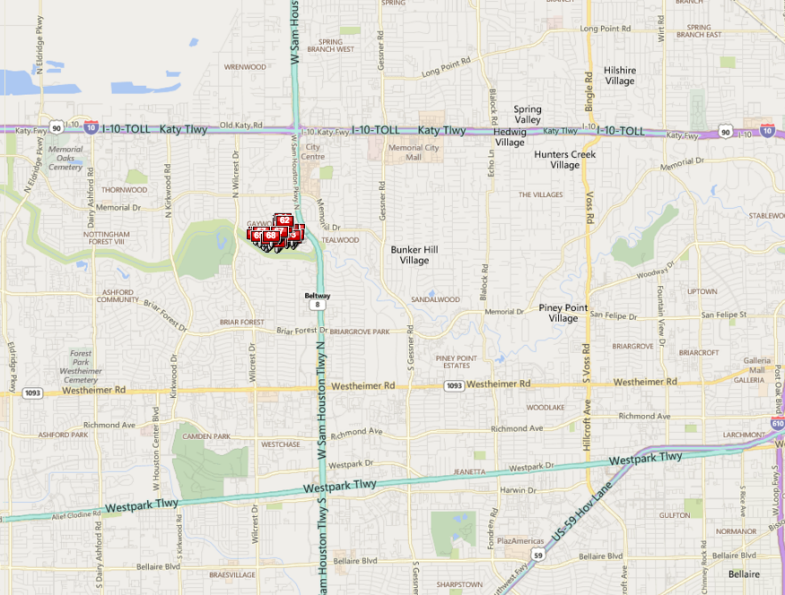 Memorial Glen Houston neighborhood map