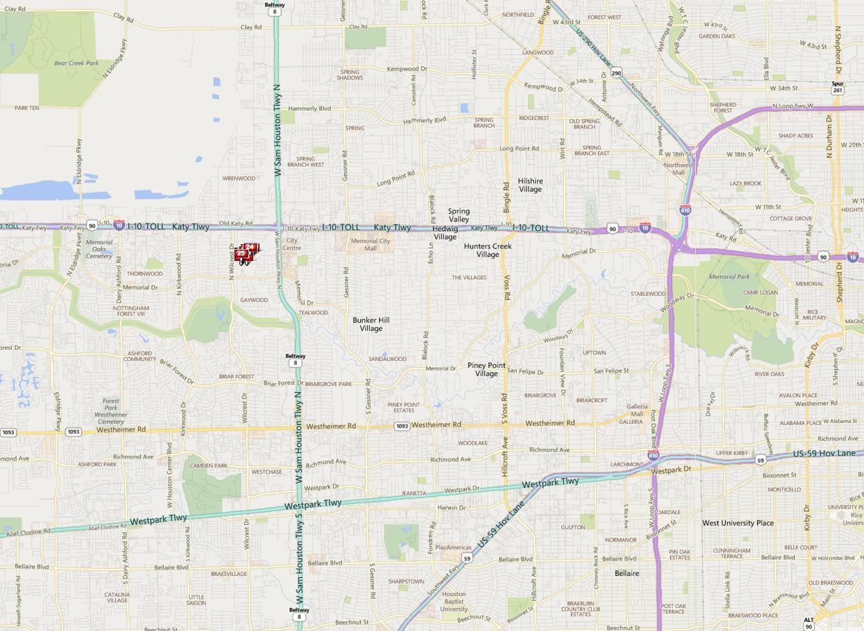 Memorial Forest Houston map