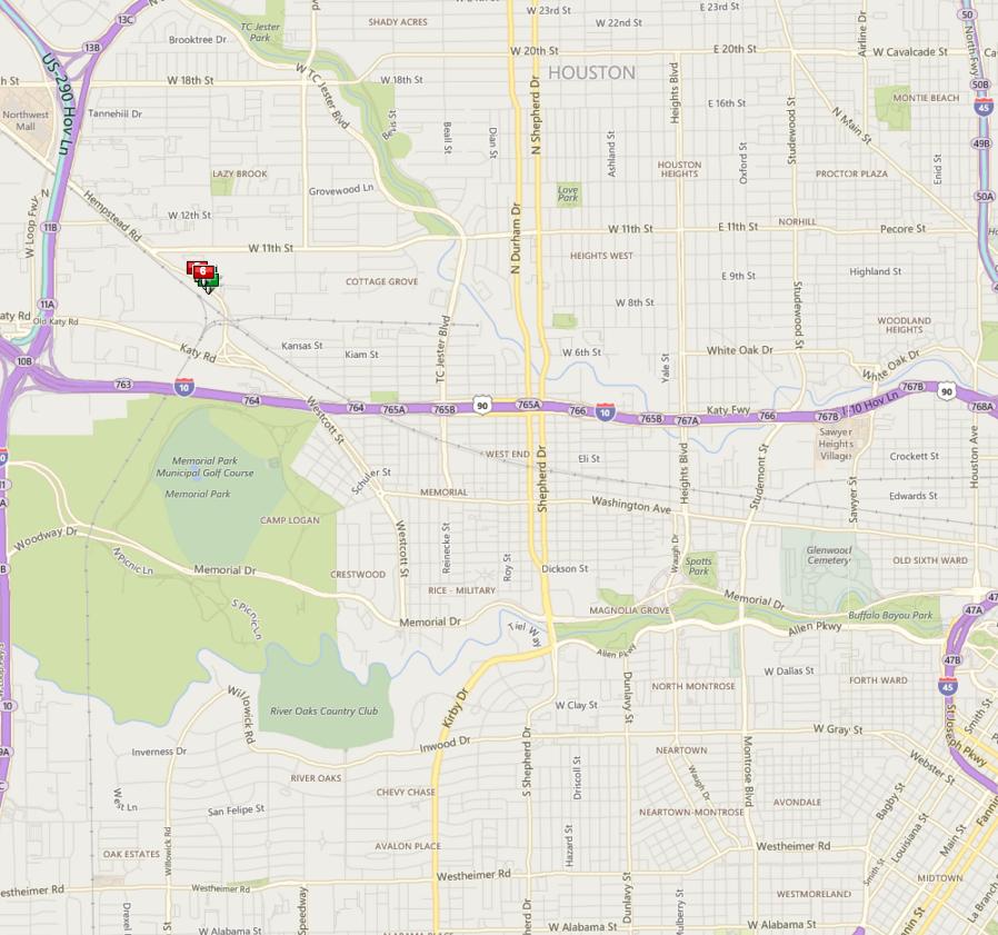 Reserve At Washington Houston map