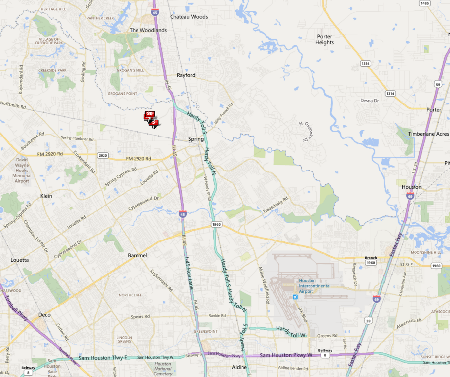Springwoods Village Houston map