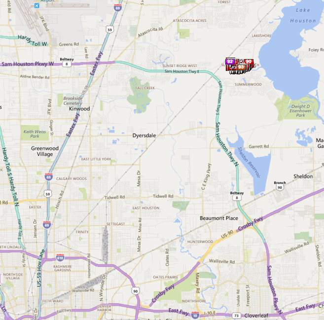 Summer Lake Ranch Houston map