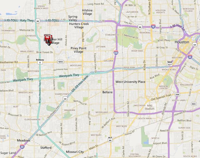Tealwood Houston neighborhood map