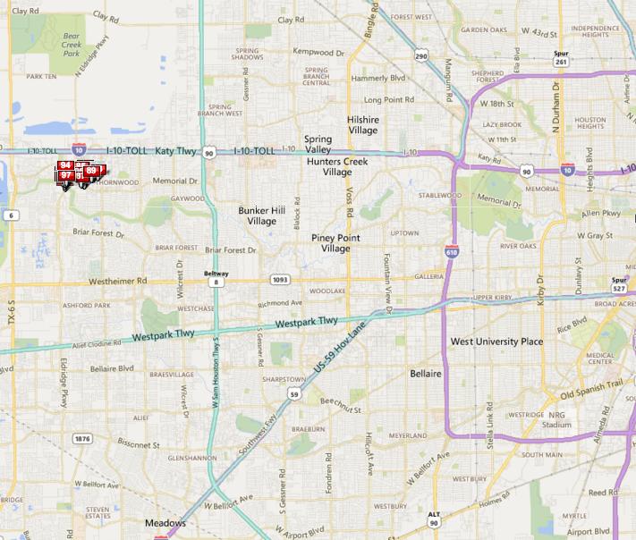 Thornwood Houston Memorial map