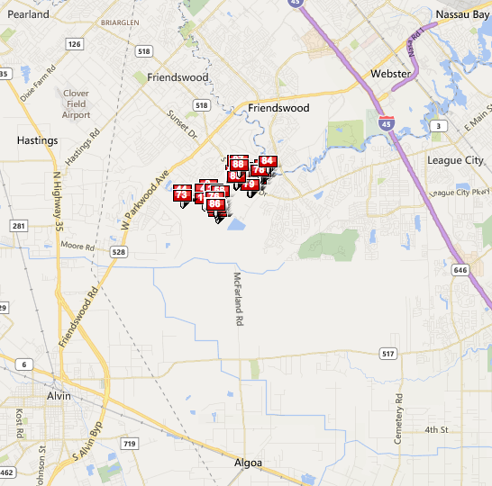 West Ranch Friendswood map