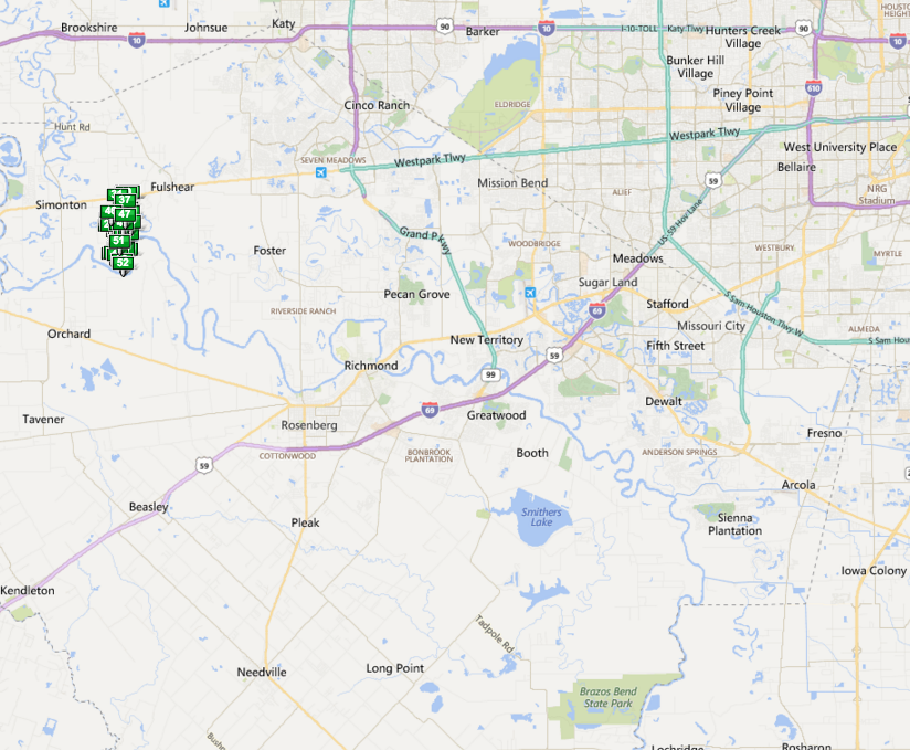 West Lakes Fulshear TX map